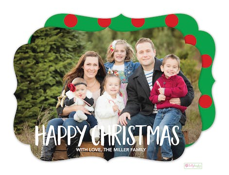 Happy Christmas Holiday Photo Card