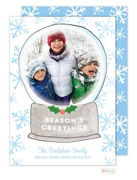 Snowglobe Holiday Photo Card