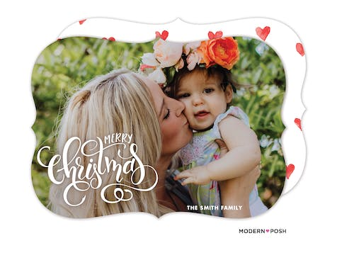 Intricate Merry Christmas Holiday Photo Card