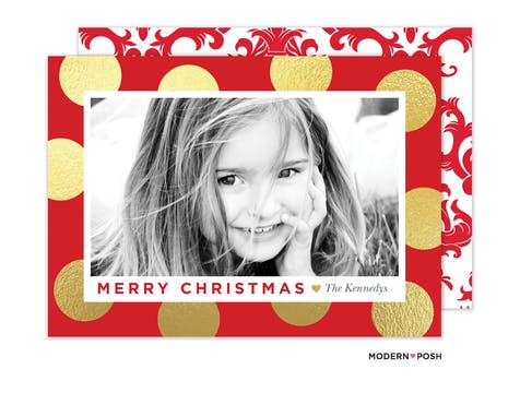 Dazzling Dots Holiday Photo Card
