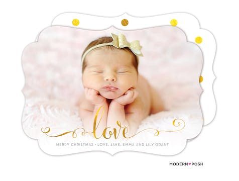 Glowing Love Holiday Photo Card