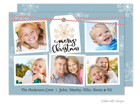 Merry Christmas Twine Holiday Photo Card