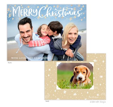 Starry Merry Christmas Holiday Photo Card