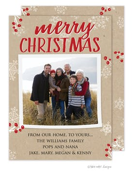 Merry Christmas Kraft Holiday Photo Card