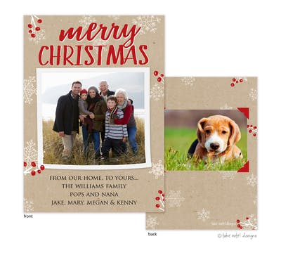 Merry Christmas Kraft Holiday Photo Card