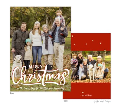 Merry Christmas Stars Holiday Photo Card
