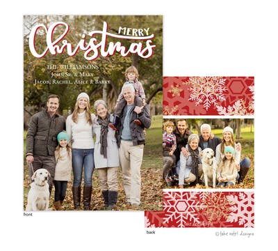 Merry Christmas Curvy Script Holiday Photo Card