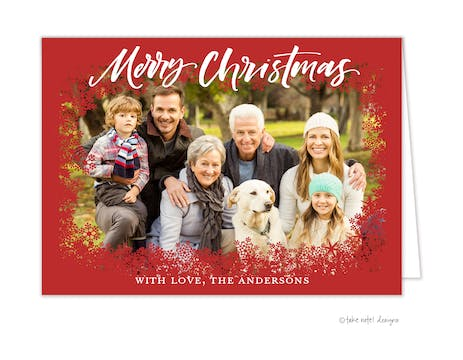 Framed in Snowflakes Merry Christmas Holiday Photo Card