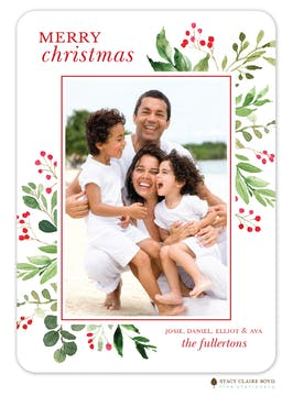 Lovely Christmas Holiday Photo Card