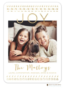 Boho Border Holiday Photo Card