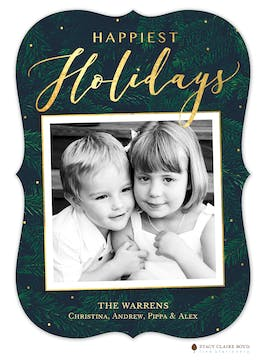 Evergreen Holiday Holiday Photo Card