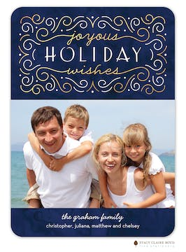 Swirled Wishes Holiday Photo Card