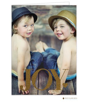 Big Joy Foil Pressed Folded Holiday Photo Card