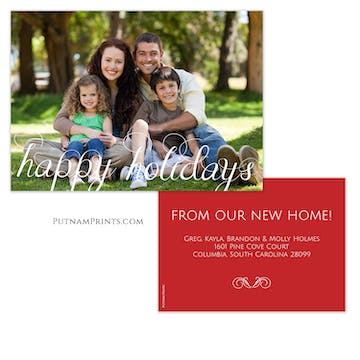 Scripted Happy Holidays Photo Card