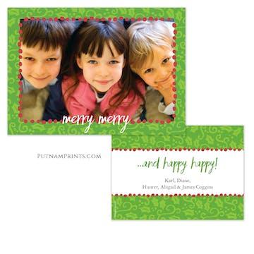 Merry Merry Happy Happy Holiday Photo Card