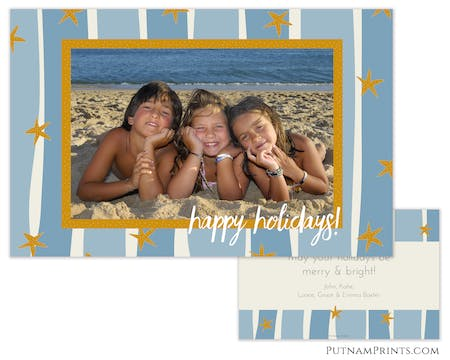 Starfish Wishes Holiday Photo Card