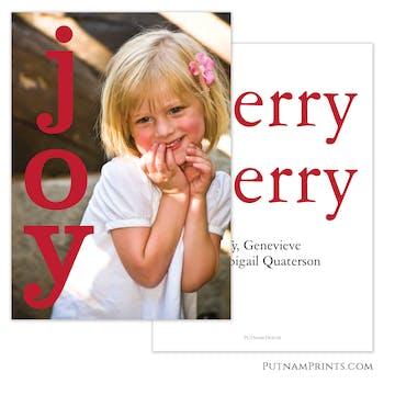 Big Joy (Red) Holiday Photo Card