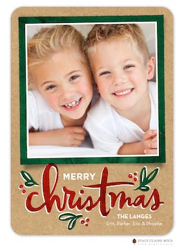 Casual Christmas Holiday Photo Card