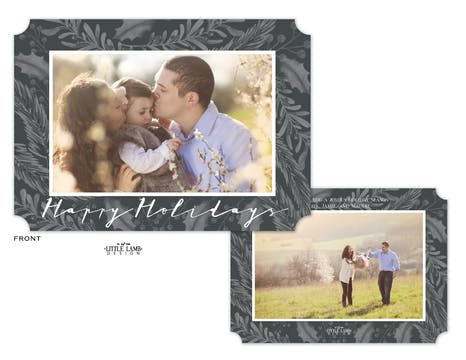 Achromatic Happy Holidays Holiday Photo Card