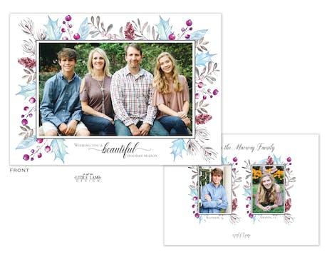 Enchanted Flora Holiday Photo Card