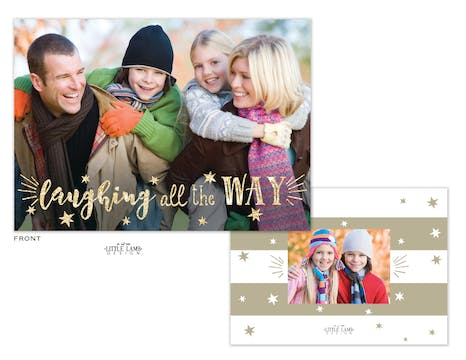 Laughing All the Way Foil Holiday Photo Card