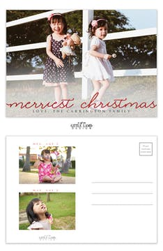 Merriest Christmas Holiday Postcard (No Envelopes)