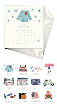 Hand-sparkled 2019 Desk Calendar Refill