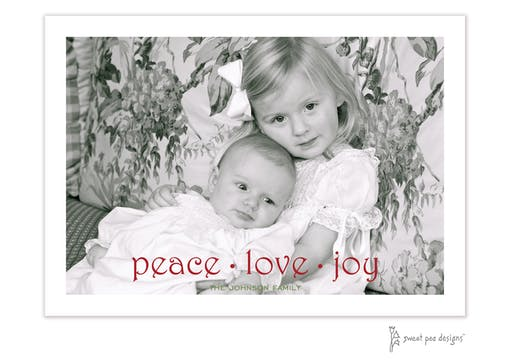 peace love joy Flat Holiday Photo Card
