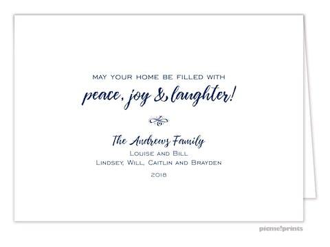 Happy New Year! Folded Holiday Photo Card