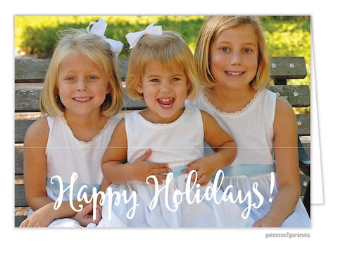 Happy Holidays! Folded Holiday Photo Card