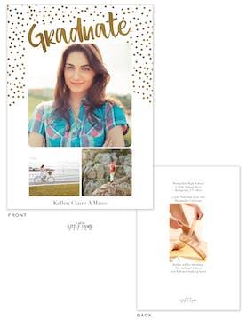Confetti Graduate Photo Card Announcement
