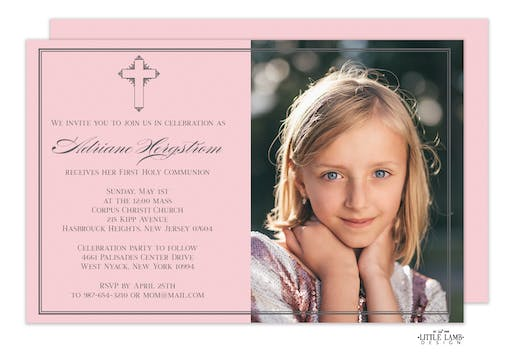 Petite Cross Photo Invitation