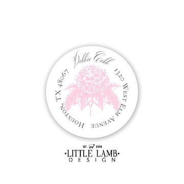 Pastel Hydrangea Return Address Sticker