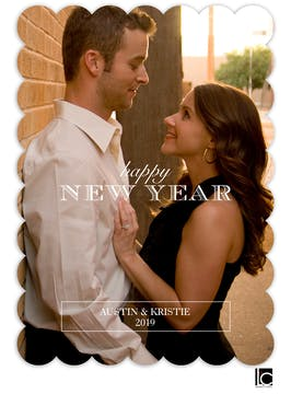 Simple New Year Flat Photo Card