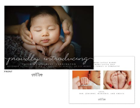 Proudly Introducing Photo Birth Announcement