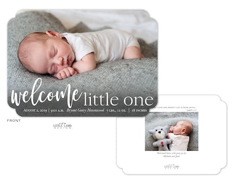 Welcome Little One Photo Birth Announcement