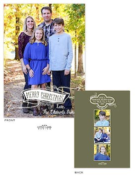 Fun Banner Holiday Flat Photo Card