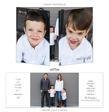 Gatefold Folded Photo Holiday Card