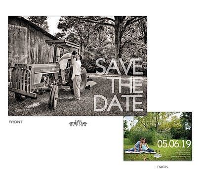 Bold Letter Love Photo Save The Date Card