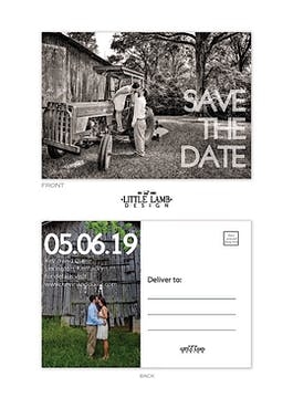 Bold Letter Love Photo Save The Date Postcard