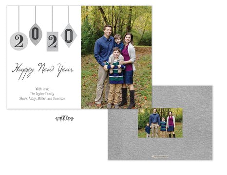 Ornaments New Years Flat Photo Holiday Card