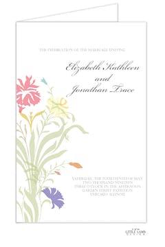 Multi-color Floral Folded Program