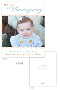 Happy Thanksgiving Small Holiday Flat Photo Card