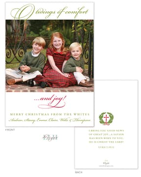 Comfort And Joy Holiday Flat Photo Card