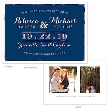 Painted Edges Navy Photo Save The Date