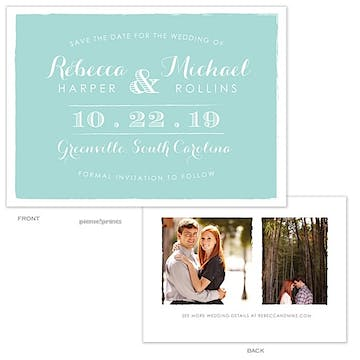 Painted Edges Tiffany Photo Save The Date