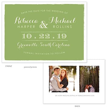 Painted Edges Lime Photo Save The Date