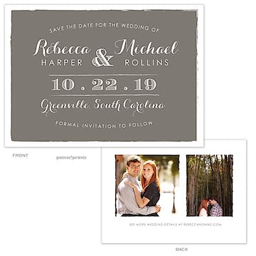 Painted Edges Gray Photo Save The Date