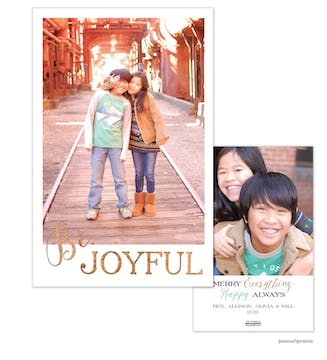 Be Joyful Holiday Flat Photo Card