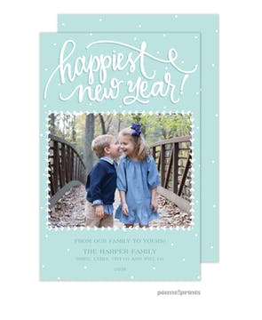 Happiest New Year Holiday Photo Card (Designed by Natalie Chang)